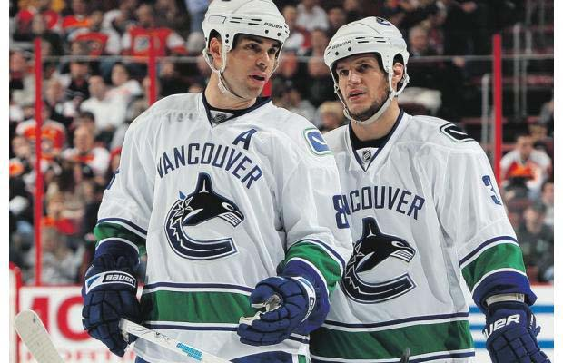 Willie Mitchell and Kevin Bieksa
