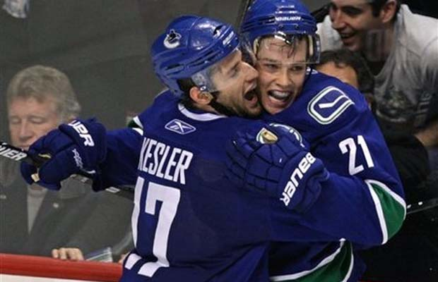 Ryan Kesler and Mason Raymond, Vancouver Canucks