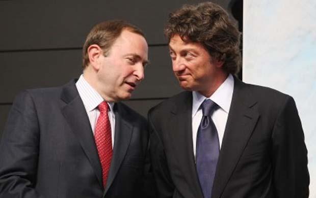 Daryl Katz, Edmonton Oilers and Gary Bettman