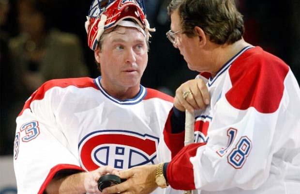 Patrick Roy and Serge Savard, Montreal Canadiens
